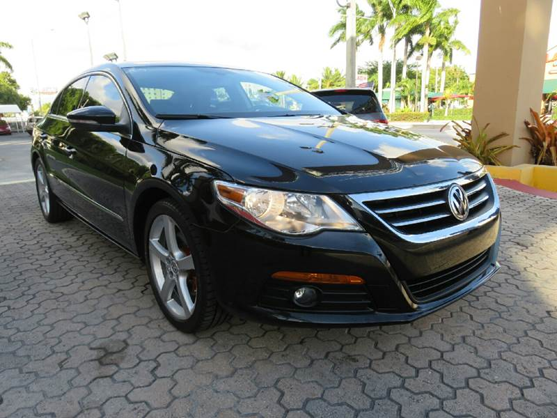 2012 VOLKSWAGEN CC LUX 4DR SEDAN black the showroom miami is a family owned first class used car