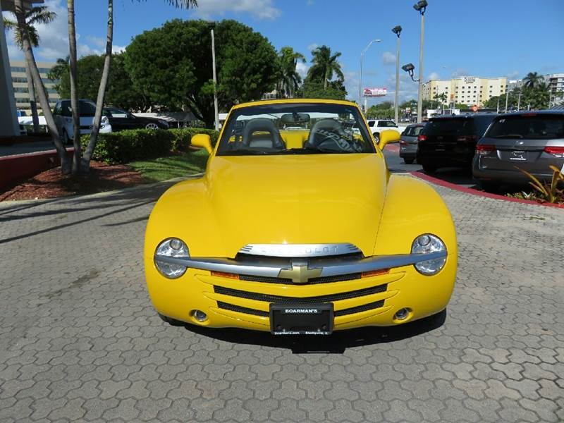 2003 CHEVROLET SSR LS 2DR REGULAR CAB CONVERTIBLE R yellow the showroom miami is a family owned
