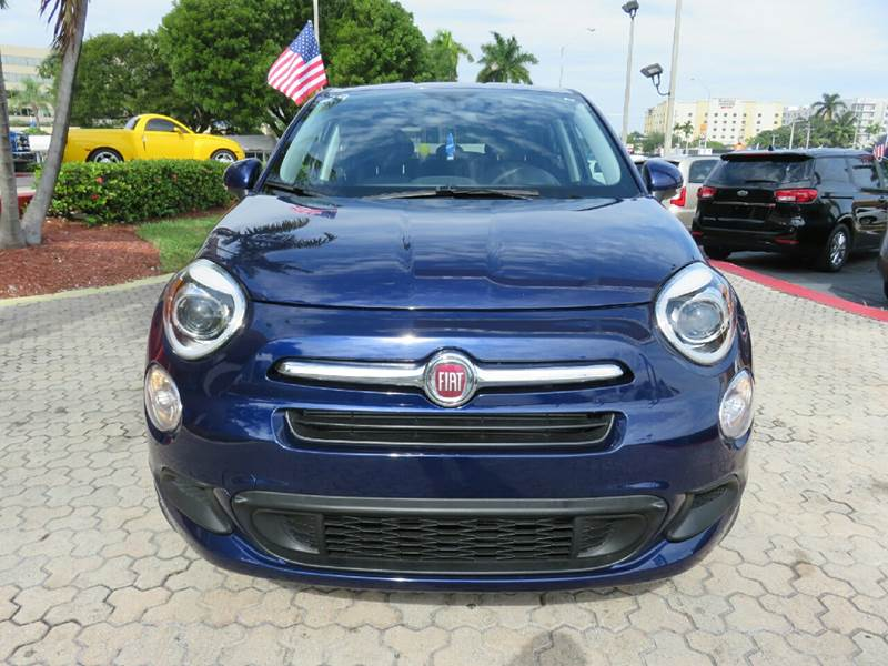 2016 FIAT 500X EASY 4DR CROSSOVER blue the showroom miami is a family owned first class used car