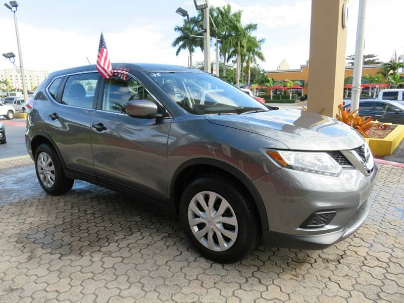 2016 NISSAN ROGUE SV AWD 4DR CROSSOVER gray the showroom miami is a family owned first class use