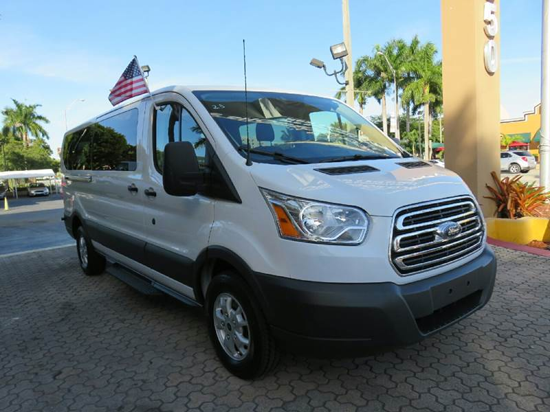 2015 FORD TRANSIT WAGON 350 XLT 3DR LWB LOW ROOF PASSENG white the showroom miami is a family owne