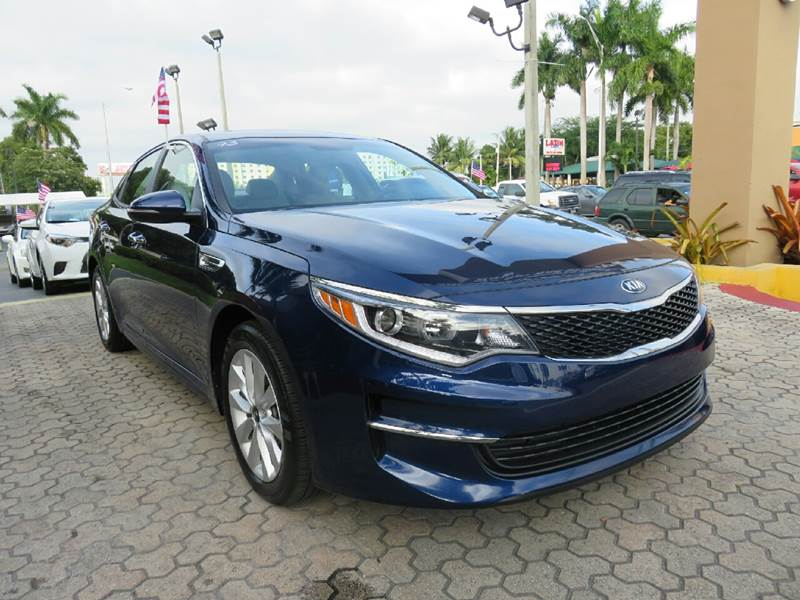 2016 KIA OPTIMA LX 4DR SEDAN blue the showroom miami is a family owned first class used car deal