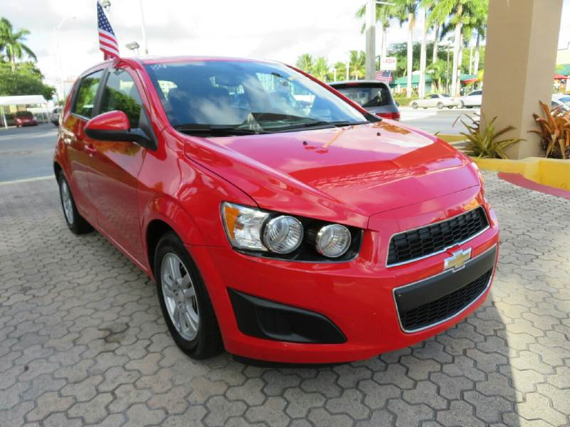 2015 CHEVROLET SONIC LT AUTO 4DR HATCHBACK red the showroom miami is a family owned first class