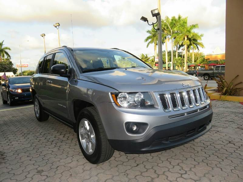 2015 JEEP COMPASS SPORT 4DR SUV silver body side moldings - body-color cargo tie downs door han