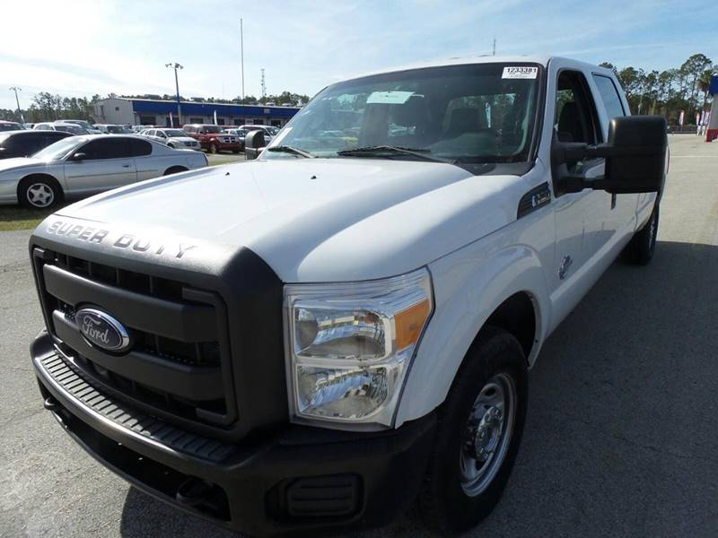 2012 FORD F-250 SUPER DUTY XL 4X2 4DR CREW CAB 8 FT LB PIC white the showroom miami is a family