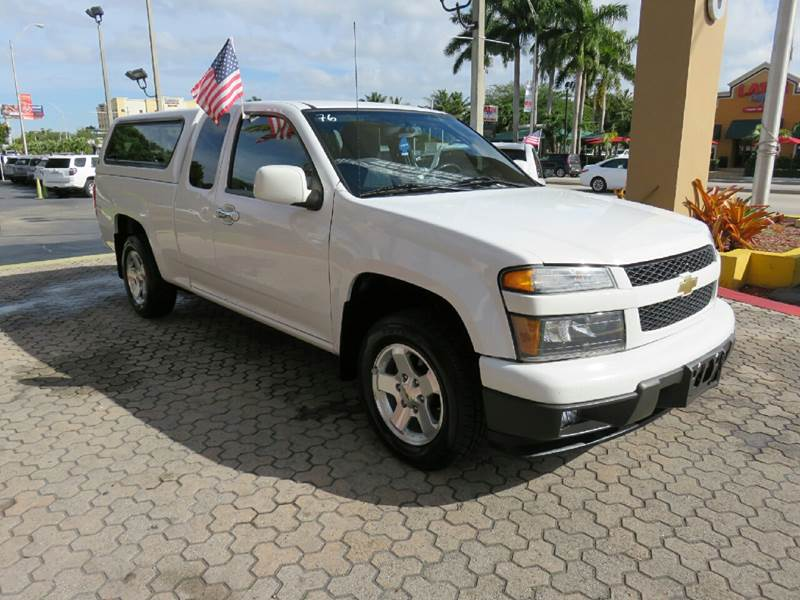 2012 CHEVROLET COLORADO LT 4X2 4DR EXTENDED CAB W1LT white the showroom miami is a family owned