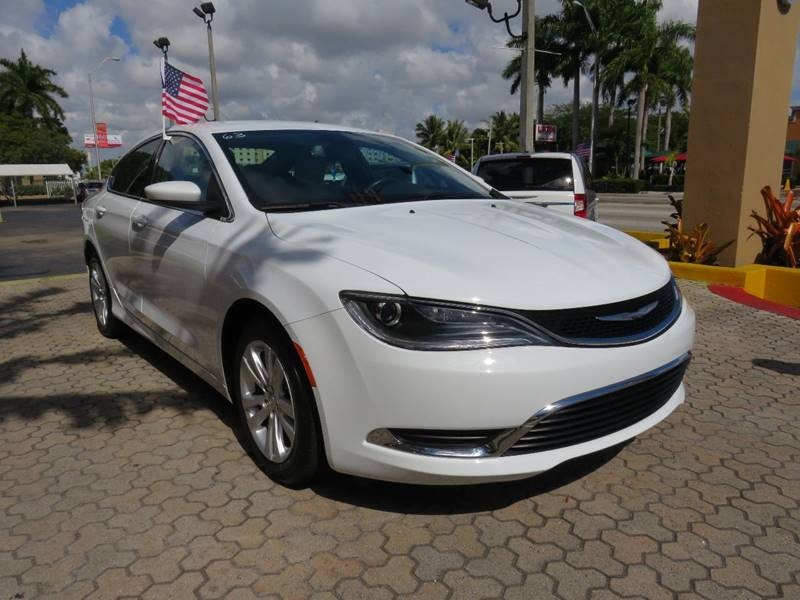 2015 CHRYSLER 200 LIMITED 4DR SEDAN off white exhaust - hidden active grille shutters door hand