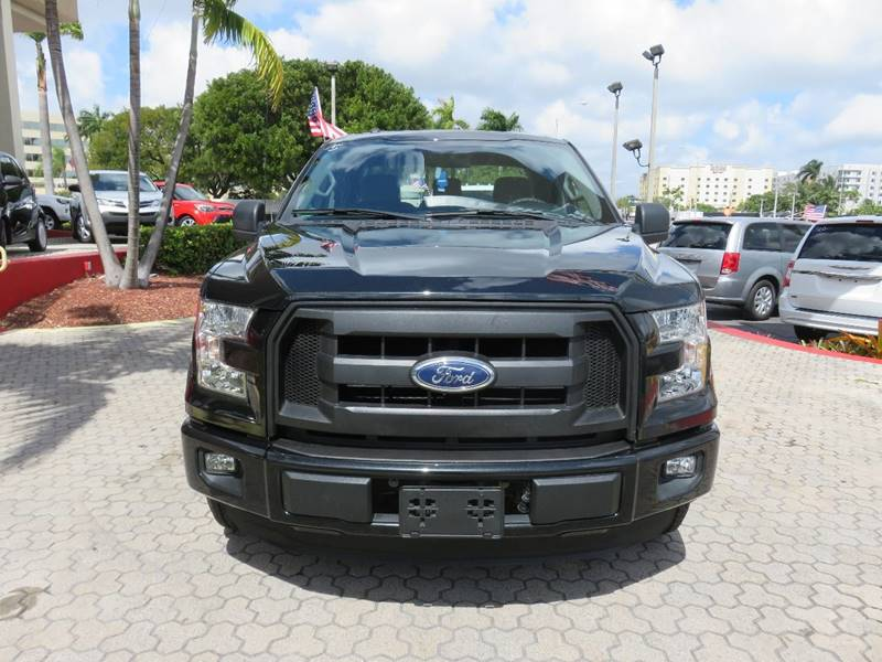 2015 FORD F-150 XLT 4X2 4DR SUPERCAB 65 FT SB black pickup bed light pickup bed type - stylesi