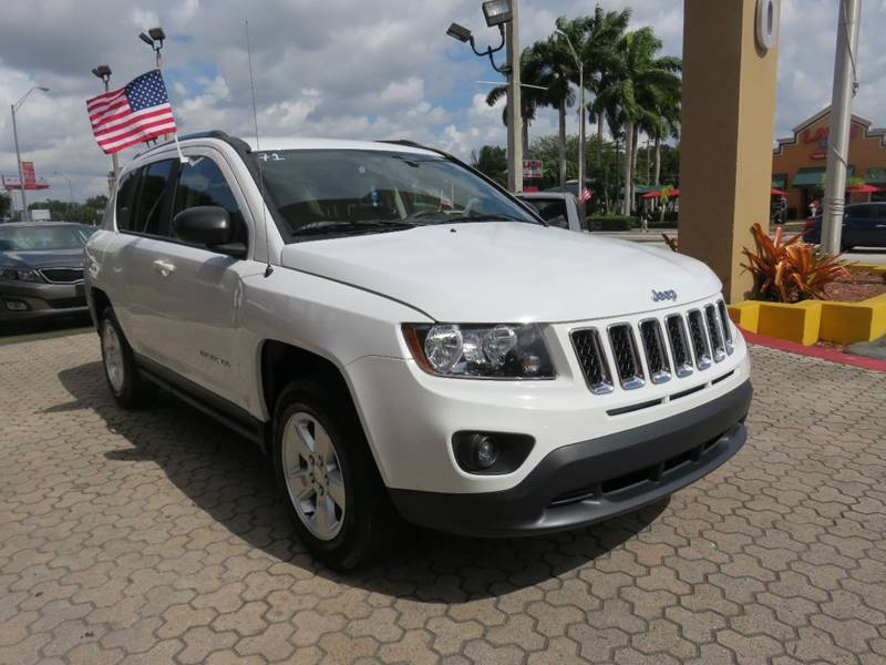 2015 JEEP COMPASS SPORT 4DR SUV white body side moldings - body-color cargo tie downs door hand