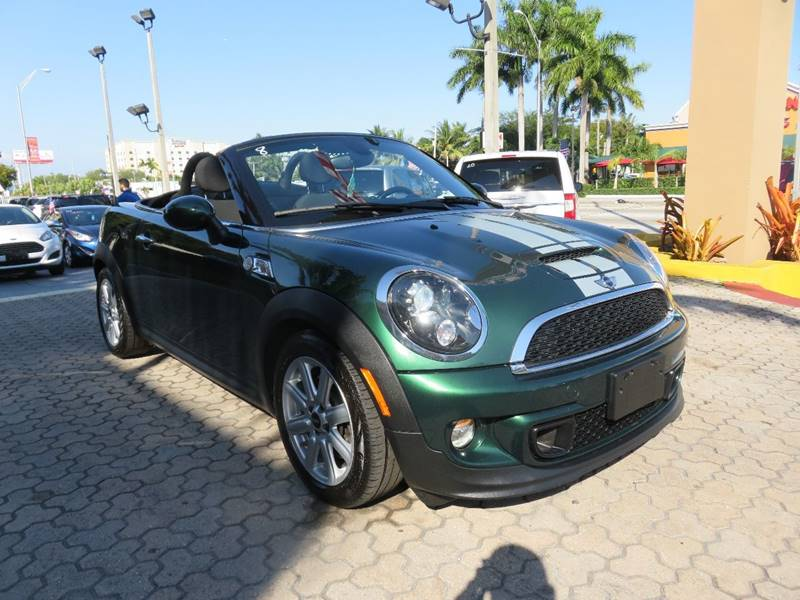 2013 MINI ROADSTER COOPER S 2DR CONVERTIBLE green exhaust - dual tip door handle color - chrome