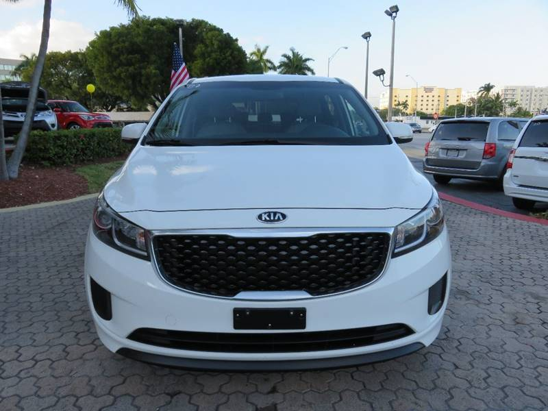 2015 KIA SEDONA LX 4DR MINI VAN white rear spoiler - roofline door handle color - body-color ex