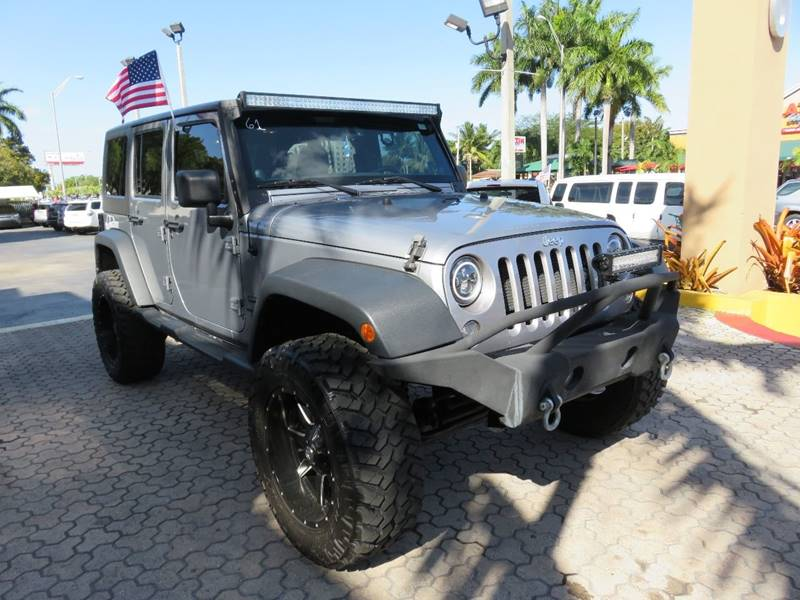 2014 JEEP WRANGLER UNLIMITED SPORT 4X4 4DR SUV gray 2-stage unlocking doors 4wd selector - manua