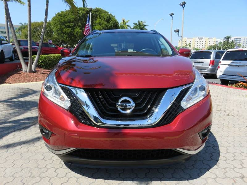 2016 NISSAN MURANO S 4DR SUV red exhaust - dual tip rear spoiler - roofline tow hooks - rear d