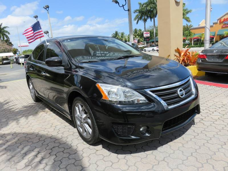 2013 NISSAN SENTRA SR 4DR SEDAN black door handle color - chrome exhaust tip color - chrome fro