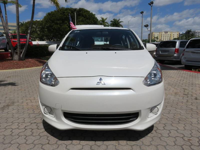 2015 MITSUBISHI MIRAGE DE 4DR HATCHBACK CVT white door handle color - body-color front air dam