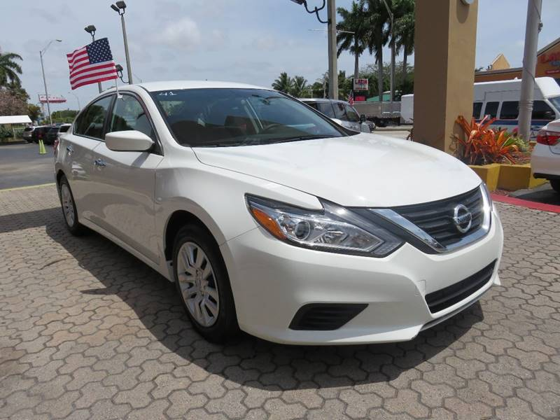 2016 NISSAN ALTIMA 25 S 4DR SEDAN white 2-stage unlocking doors abs - 4-wheel active grille sh