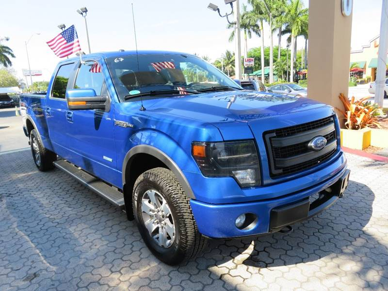 2013 FORD F-150 FX4 4X4 4DR SUPERCREW STYLESIDE blue pickup bed light pickup bed type - stylesid