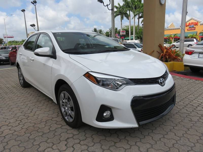 2016 TOYOTA COROLLA S 4DR SEDAN white door handle color - body-color exhaust tip color - chrome
