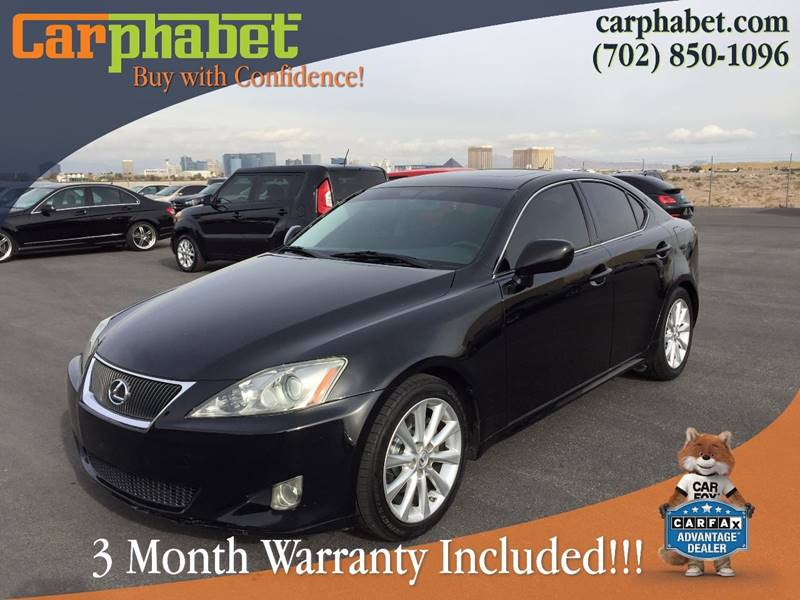 2007 LEXUS IS 250 BASE 4DR SEDAN 25L V6 6A black carphabet is proud to offer this beautiful 20
