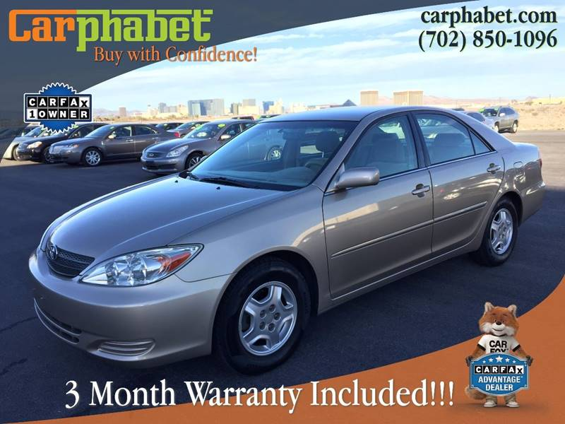 2002 TOYOTA CAMRY LE V6 4DR SEDAN champagne check out our ultra low mileage and one owner  2002 t