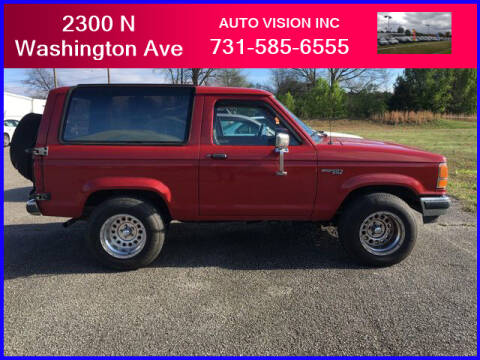 1990 Ford Bronco II for sale at Auto Vision Inc. in Brownsville TN