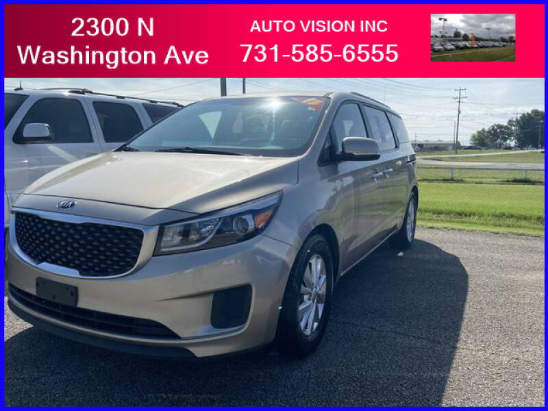 2015 Kia Sedona for sale at Auto Vision Inc. in Brownsville TN