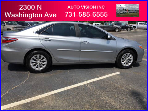 2015 Toyota Camry for sale at Auto Vision Inc. in Brownsville TN