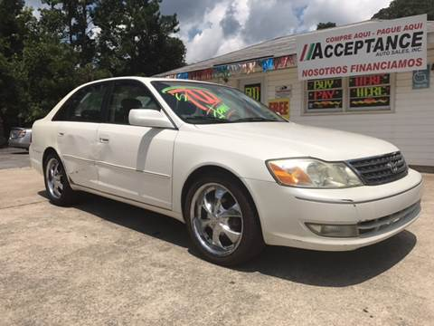 2003 Toyota Avalon for sale at Acceptance Auto Sales Douglasville in Douglasville GA