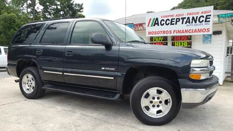 2003 Chevrolet Tahoe for sale at Acceptance Auto Sales Douglasville in Douglasville GA