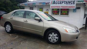2003 Honda Accord for sale at Acceptance Auto Sales Douglasville in Douglasville GA
