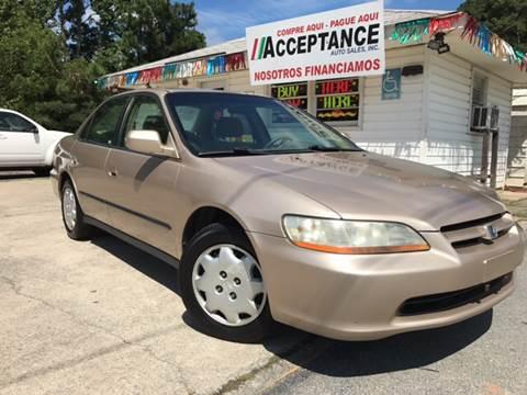 2000 Honda Accord for sale at Acceptance Auto Sales Douglasville in Douglasville GA