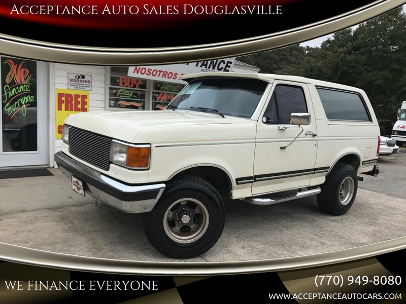 Custom Auto Sales >> 1989 Ford Bronco 2dr Custom 4wd Suv In Douglasville Ga