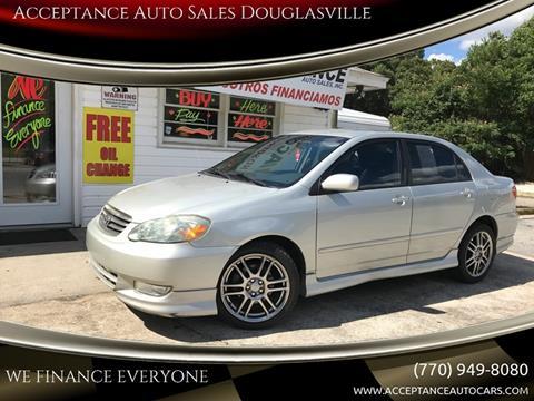 2004 Toyota Corolla for sale at Acceptance Auto Sales Douglasville in Douglasville GA
