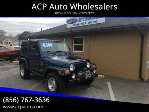 2000 Jeep Wrangler Sport for sale at ACP Auto Wholesalers in Berlin NJ