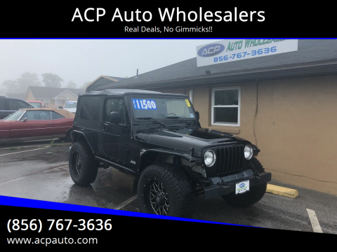2006 Jeep Wrangler Unlimited for sale at ACP Auto Wholesalers in Berlin NJ