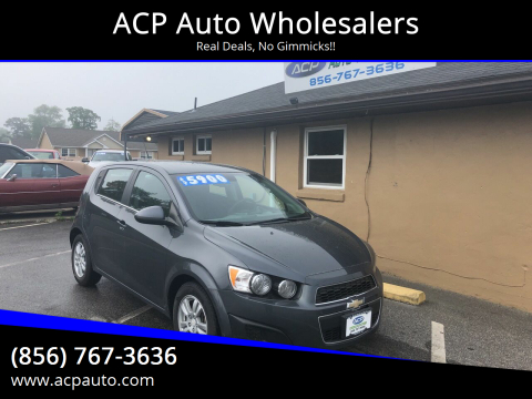 2012 Chevrolet Sonic LT for sale at ACP Auto Wholesalers in Berlin NJ