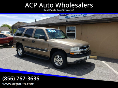 2003 Chevrolet Tahoe for sale at ACP Auto Wholesalers in Berlin NJ