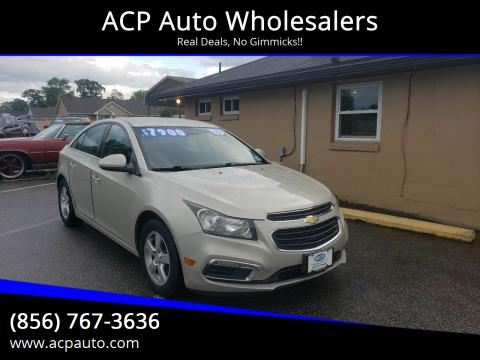 2015 Chevrolet Cruze for sale at ACP Auto Wholesalers in Berlin NJ