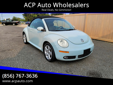 2006 Volkswagen New Beetle Convertible for sale at ACP Auto Wholesalers in Berlin NJ