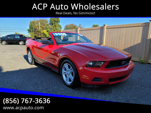 2010 Ford Mustang for sale at ACP Auto Wholesalers in Berlin NJ