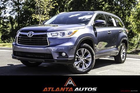 2014 Toyota Highlander for sale in Marietta, GA