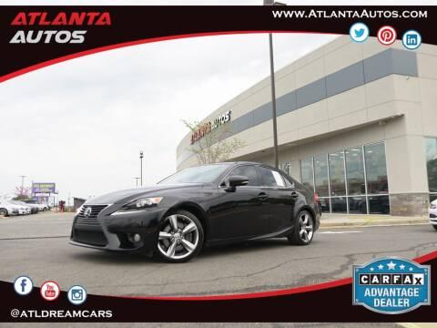 2014 Lexus IS 350 for sale at ATLANTA AUTOS in Marietta GA