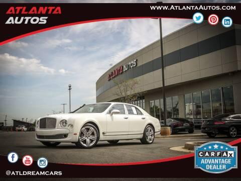 2013 Bentley Mulsanne for sale at ATLANTA AUTOS in Marietta GA