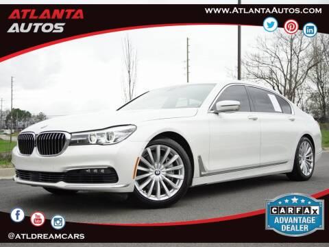 2016 BMW 7 Series 740i for sale at ATLANTA AUTOS in Marietta GA