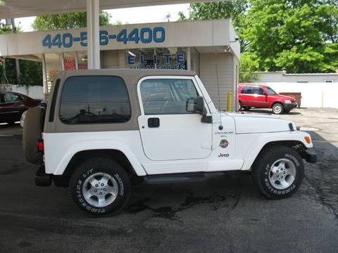 Jeeps For Sale In Ohio >> Used 1999 Jeep Wrangler For Sale In Ohio Carsforsale Com