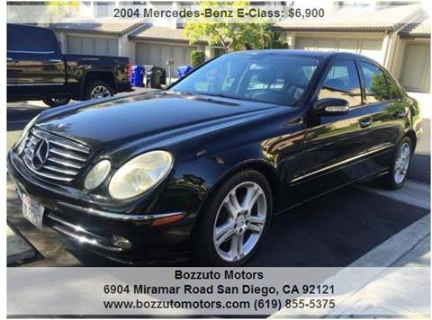 2004 Mercedes-Benz E-Class for sale at Bozzuto Motors in San Diego CA