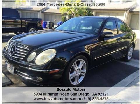 2004 Mercedes-Benz E-Class for sale at Bozzuto Motors in San Diego CA