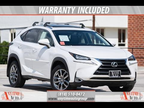 2016 Lexus NX 200t for sale in Sherman Oaks, CA