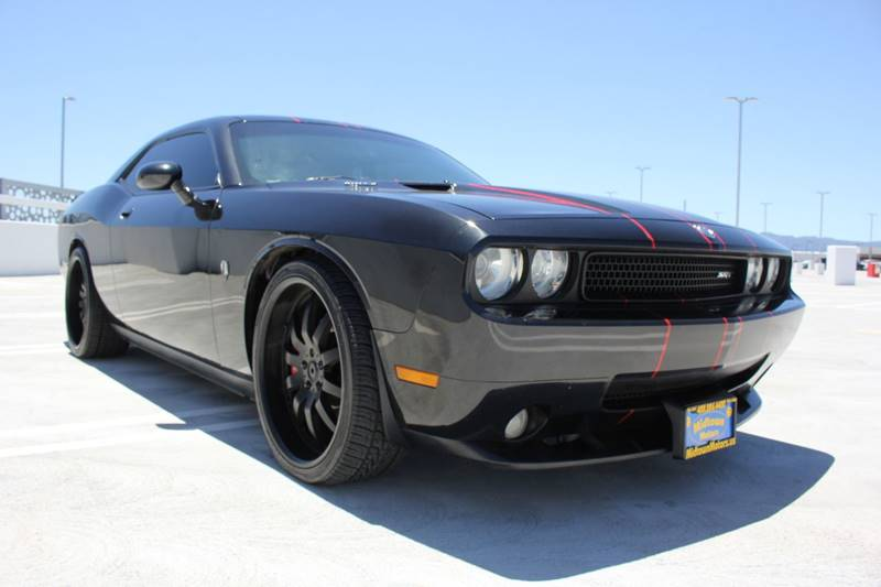 2009 DODGE CHALLENGER SRT8 2DR COUPE black new car dealerships fresh trade-in the engine is new r