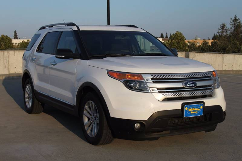 2013 FORD EXPLORER XLT 4DR SUV white good credit financing rate as low as 19 apr with 0 down -